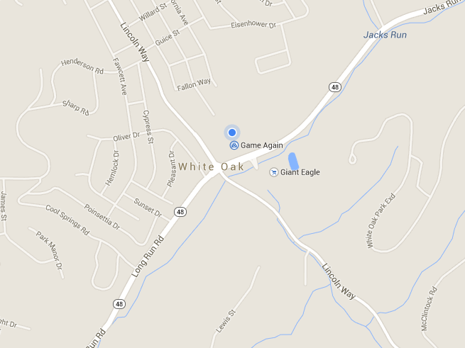 Map of 1985 Lincoln Way, White Oak, PA  15131